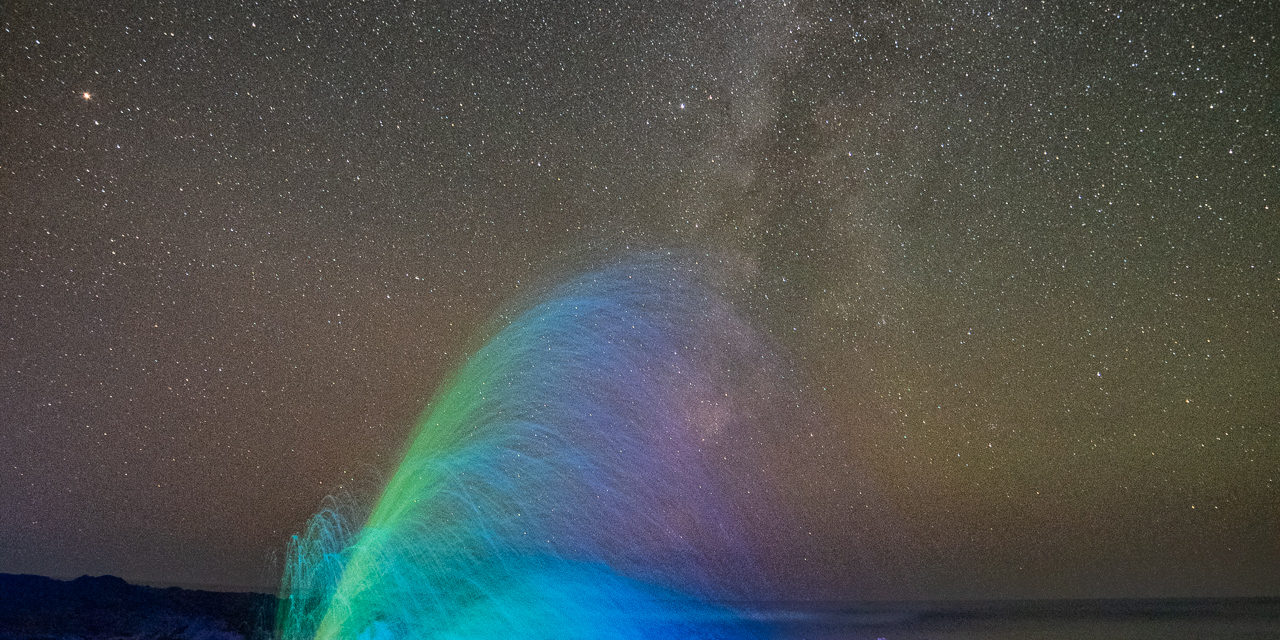 Thor's Rainbow. Astro-Landscape Photography Notes December 2018. www.keyesphoto.com