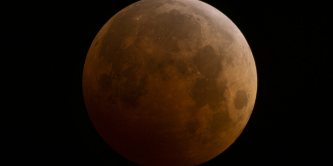 A Total Lunar Eclipse of the Moon. Photographed on 9 October 2014 with a 1260mm lens. Photo Credit: ©2018 Kirk D. Keyes