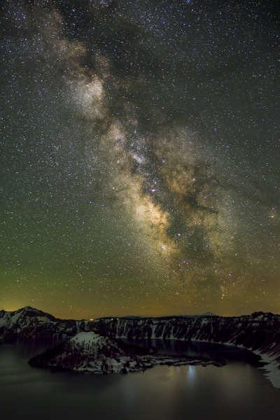 Milky Way Over Wizard Island, Crater Lake National Park